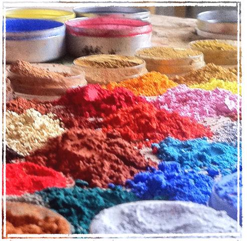 Fen tre vers l 39 invisible art sacr iconographie - Pigments naturels pour peinture ...